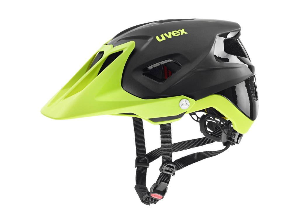 Helma Uvex Quatro Integrale, Black / Lime Matt