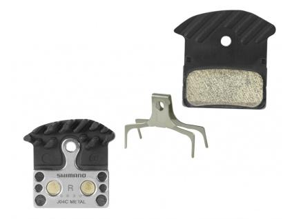 Brzdové destičky Shimano J04C kovové, s pružinou+chladič