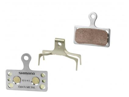 Brzdové destičky Shimano G04Ti kovové, s pružinou