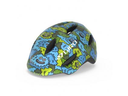 Helma Giro Scamp, Blue/Green Creature Camo