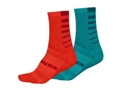 Endura Dámské ponožky Coolmax® Stripe (2-balení), Modrá Pacifik
