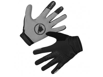 Endura Větru odolné rukavice SingleTrack, Černá
