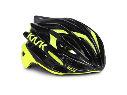 Helma Kask Mojito, Black/Yellow fluo