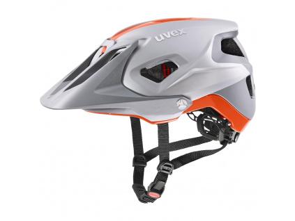 Helma Uvex Quatro Integrale, Silver / Orange Matt