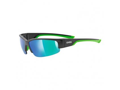 Brýle Uvex Sportstyle 215, Black Matt / Green