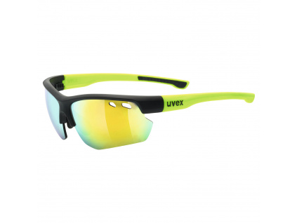 Brýle Uvex Sportstyle 115, Black Matt / Yellow