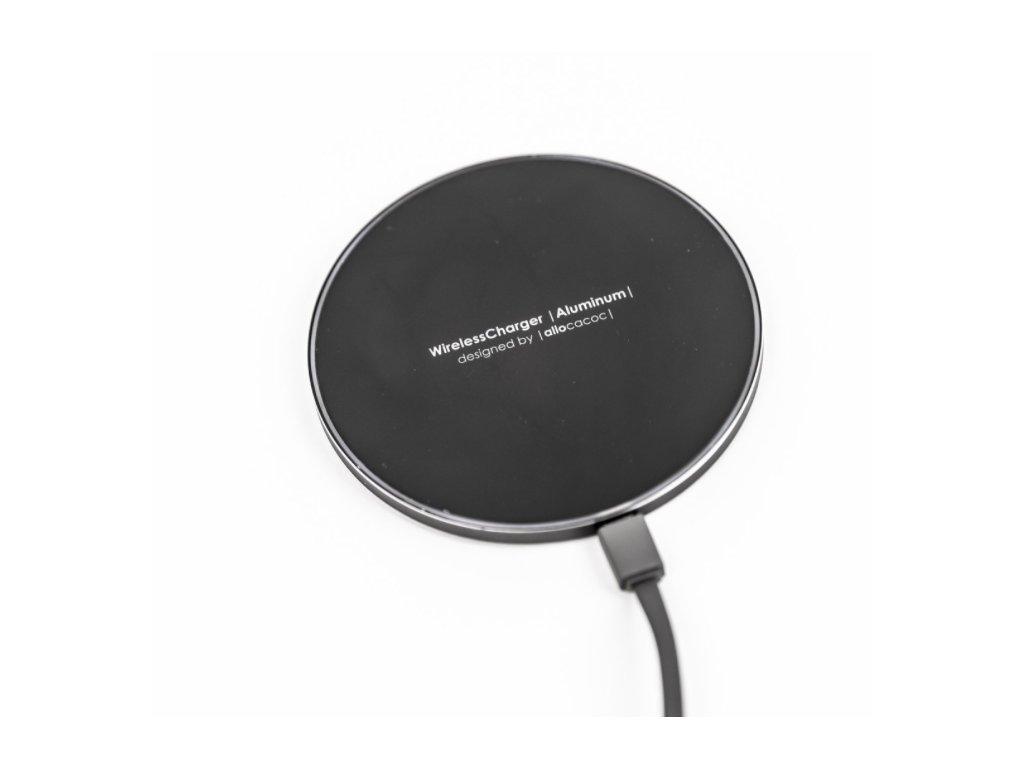 Bezdrátová nabíječka Wireless Charger Aluminum