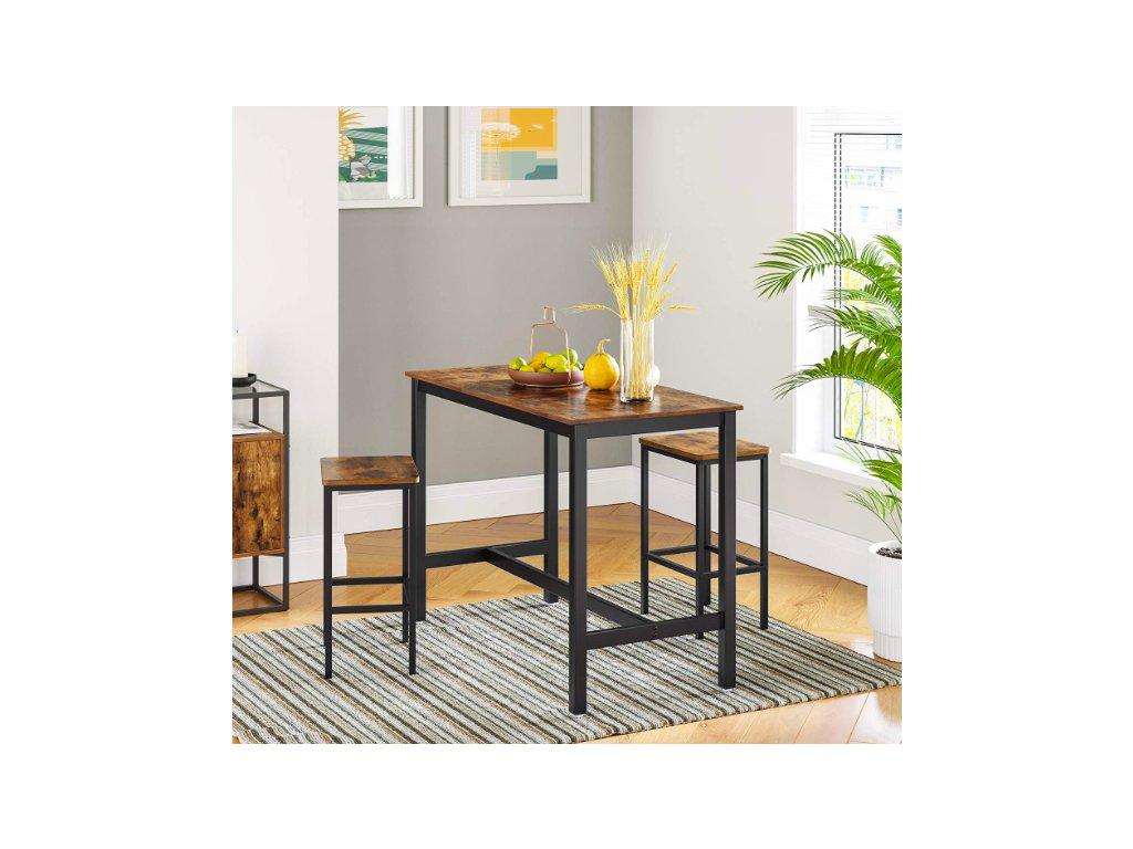 Sada barových židliček a stolu VASAGLE