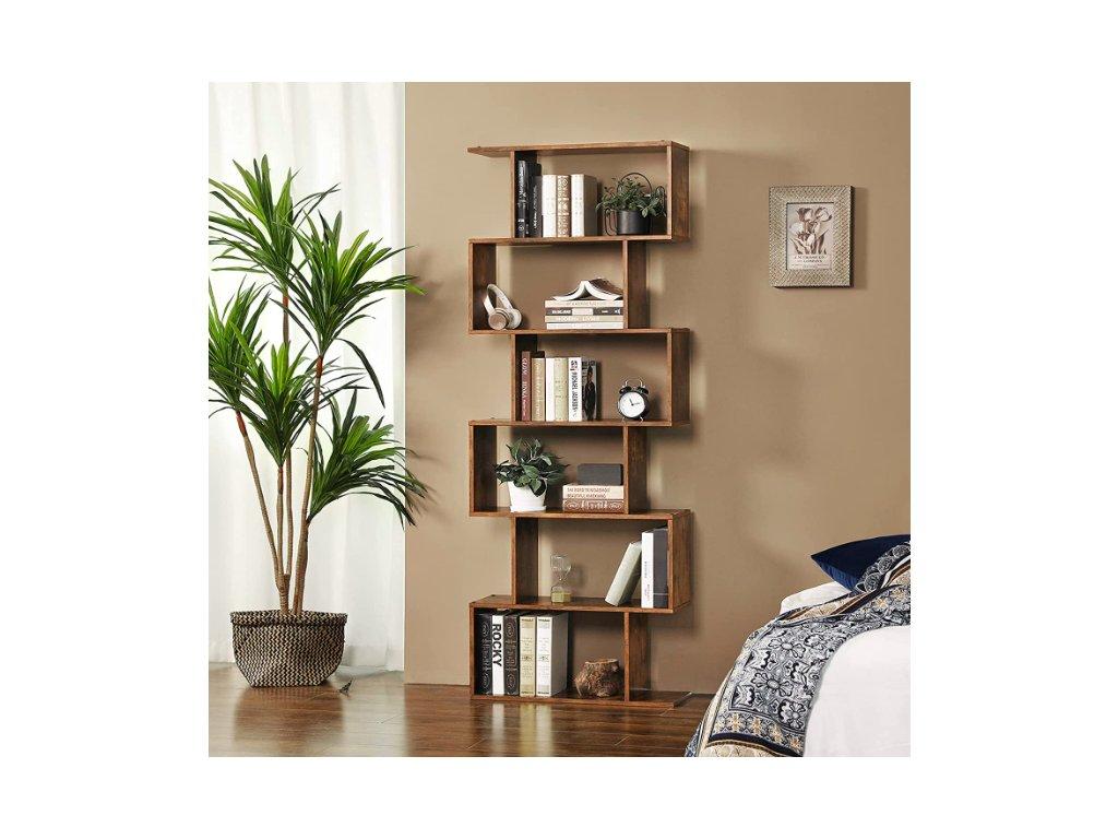 dřevená knihovna