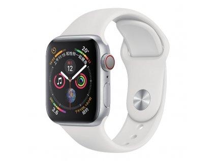 silikonový řemínek pro Apple Watch 38/40 mm bílá barva