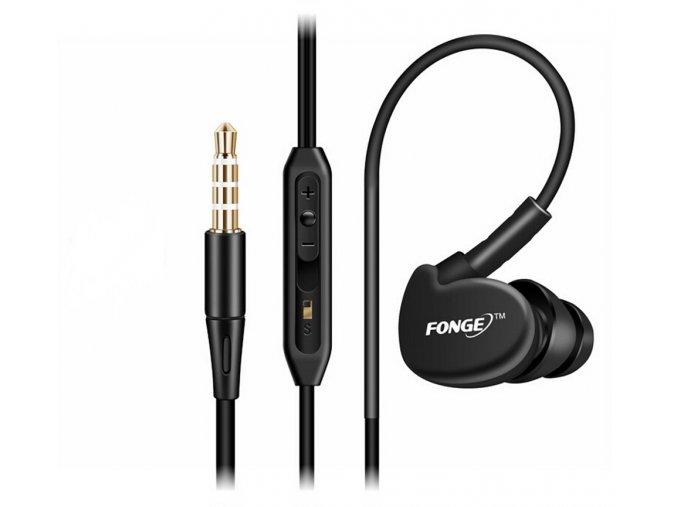 Sportovní voděodolná sluchátka Fonge APX Sport - černá