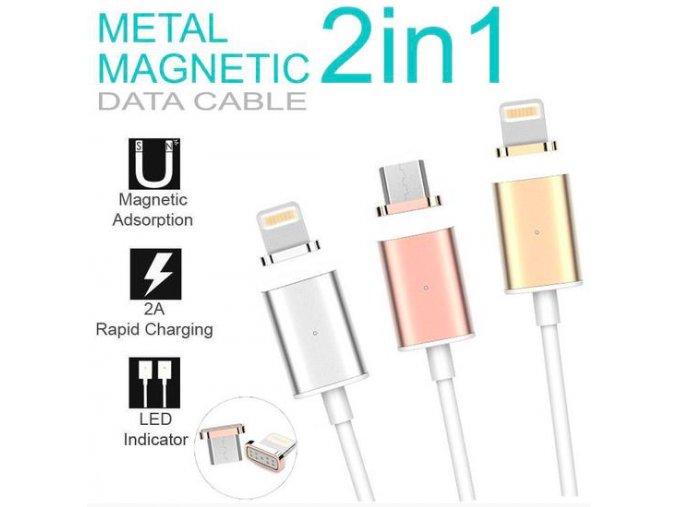 XOOMZ nabíjecí kabel pro iPhone růžová/černá, lightning