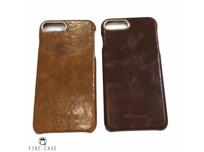 Kožené pouzdro z pravé hovězí kůže (tmavá) iCarer Metal Warrior Oil Wax 7 Plus