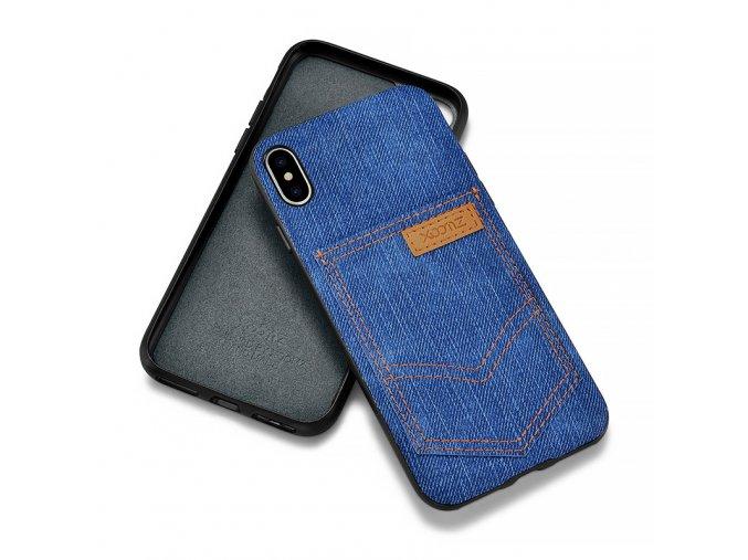 XOOMZ Jeans Pocket obal pro iPhone X/XS modrý