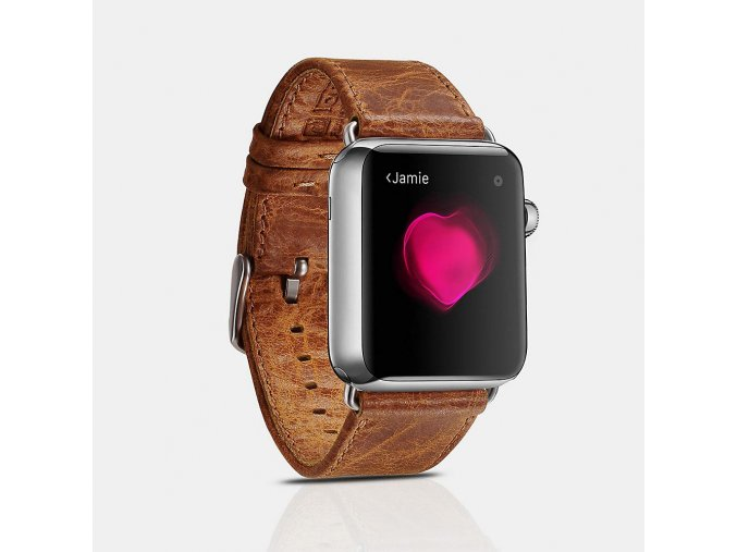 iCarer Classic For Apple Watch světle hnědé 42 mm/44 mm