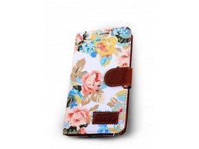 Kožené pouzdro CaseMe Flowery White Galaxy S3/S3 Neo