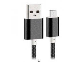 Bastec Nylon USB-micro kabel černý