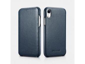 iCarer Curved Edge Luxury modrý iPhone XR