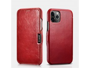iCarer Vintage červený iPhone 11 Pro Max