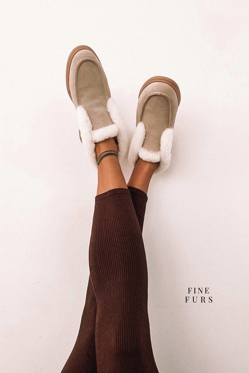 Kotníkové boty Shaun - BEIGE