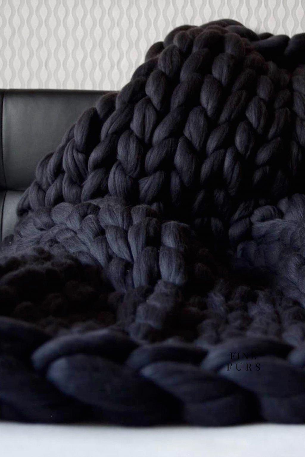 Vlněná deka - GRAPHITE