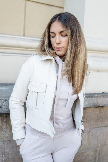 Dámská kožená bunda z pravé kůže