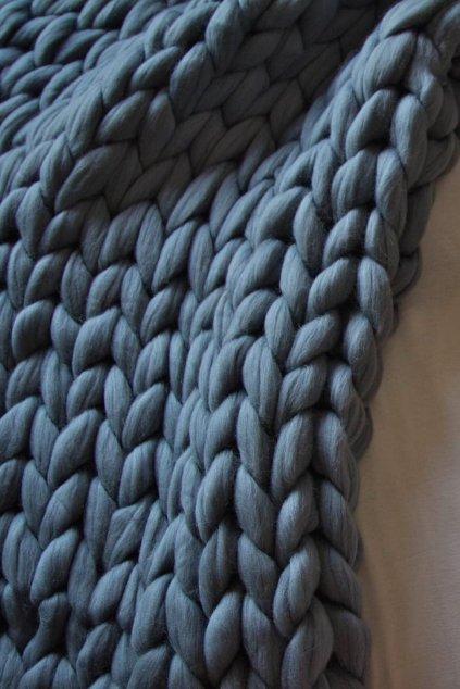 Vlněná deka - IRON GREY