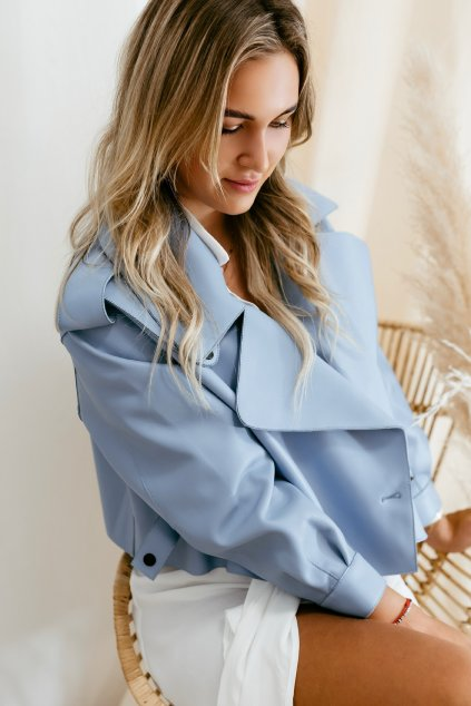 Kožená bunda modrá