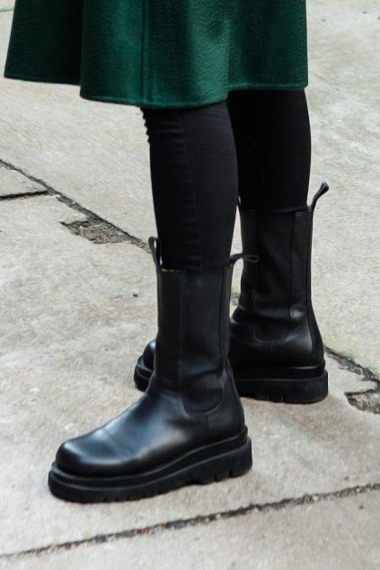 Kotníkové boty Kendall - BLACK