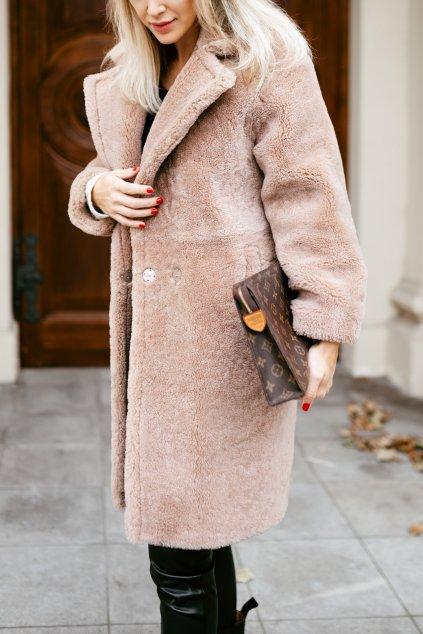 Teddy Bear kabát - LATTE