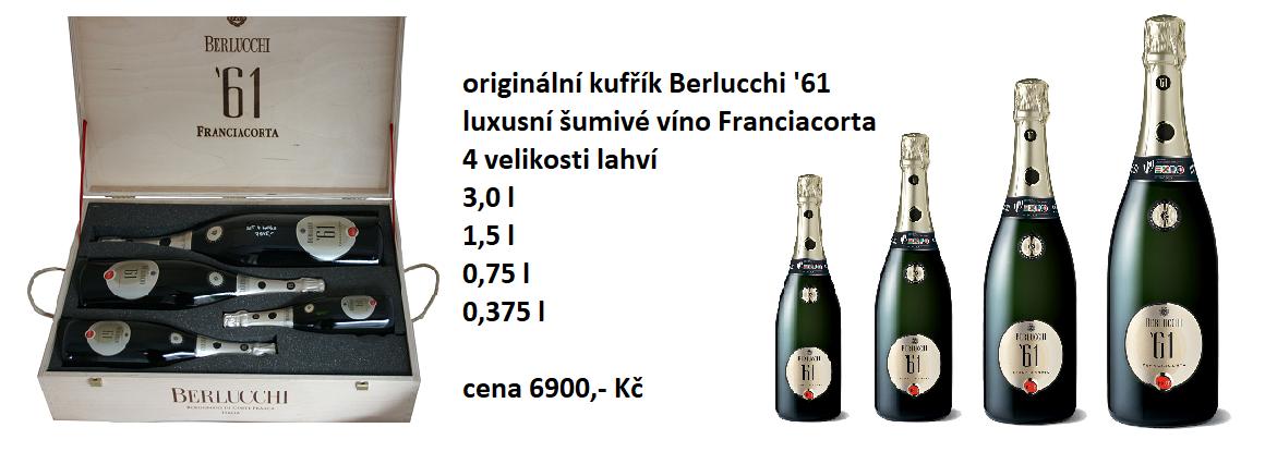kufřík Berlucchi 4 lahve