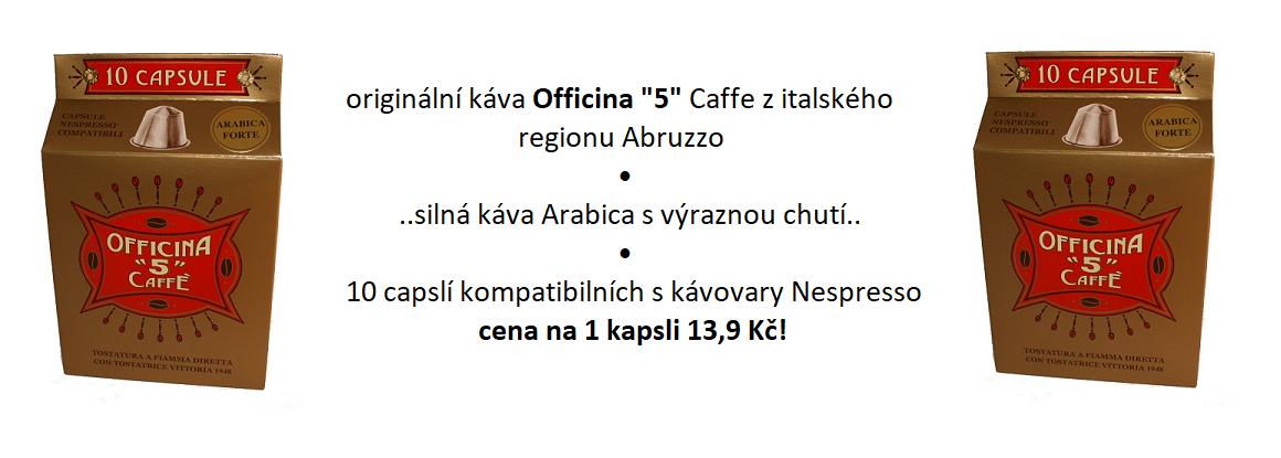 káva v kapslích officina 5