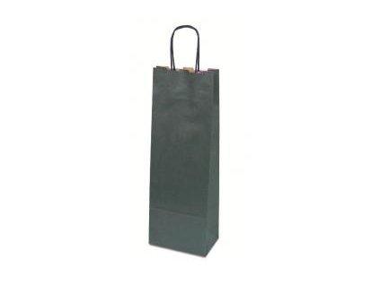 papírová taška na víno modrá