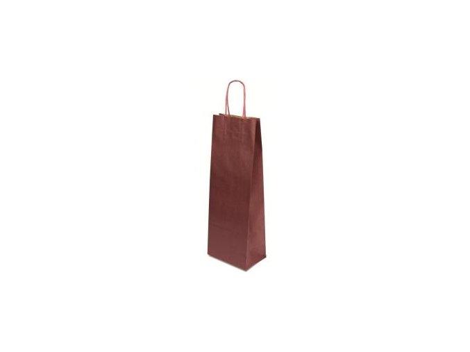 papírová taška na víno vínová