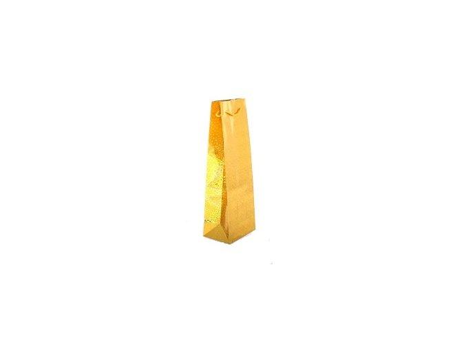 papírová taška na víno hoogram zlatá