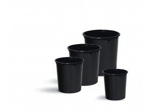 Černý plastový kelímek na barvu (Balení 200 ks, Objem 400 ml)