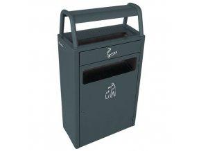 Odpadkové koše s popelníkem a samostatné popelníky