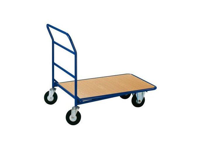 Plošinový vozík s madlem, do 350 kg