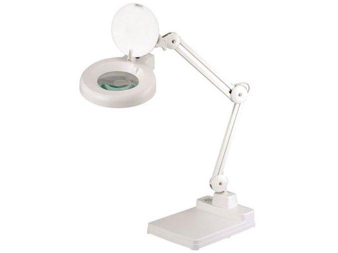 Laboratorní lampa Manu Heron s kruhovou lupou, 22 W