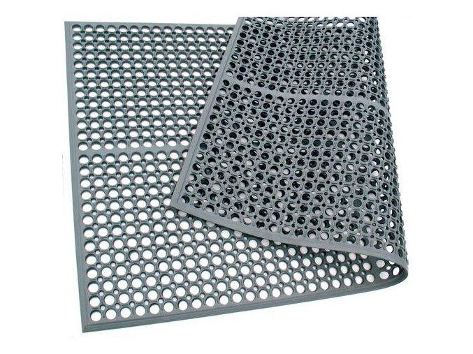 Protiúnavová průmyslová rohož s děrovaným povrchem, 152 x 91 cm
