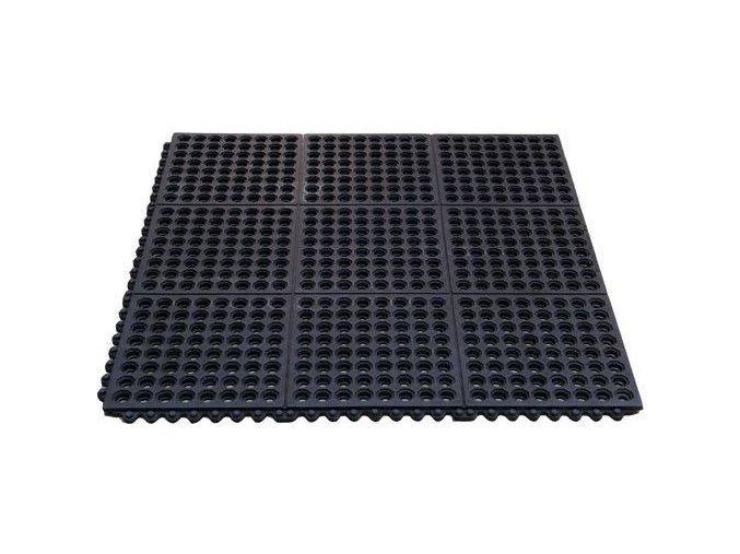 Protiúnavová průmyslová rohož s děrovaným povrchem, 90 x 90 cm