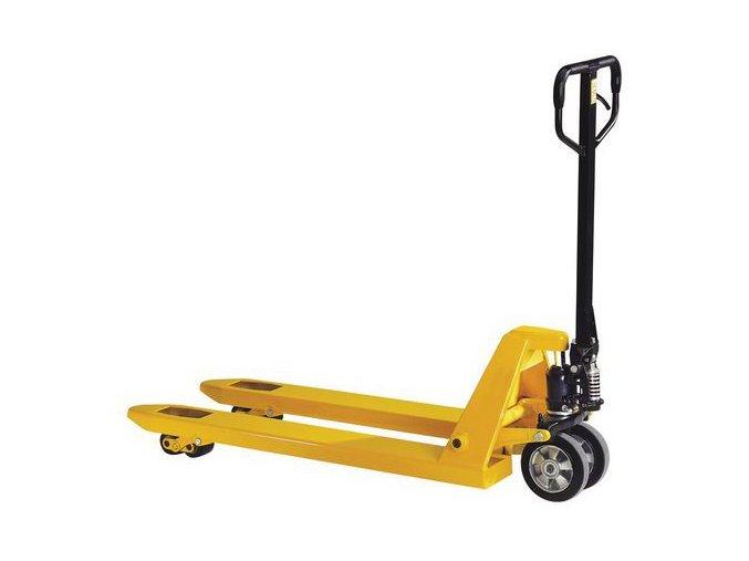 Paletový vozík, do 2 000 kg, gumová řídicí kola
