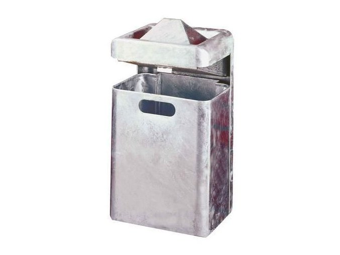 Kovový venkovní závěsný odpadkový koš s popelníkem, objem 35 l