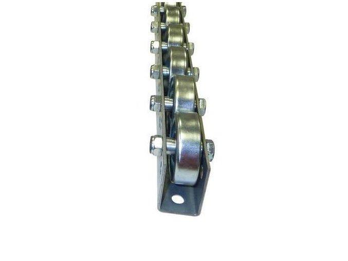Univerzální kladičkové lišty, ocel, šířka 41 mm, rozteč 50 - 125 mm