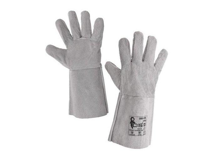 Svářečské kožené rukavice CXS, šedé