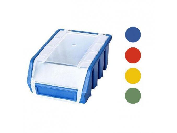 plastovy box na sroubky do dilny stohovatelny ulozny ergobox 8