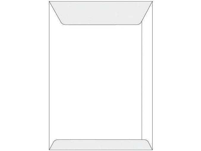 Obálka obyčejná, recyklovaná, bílá