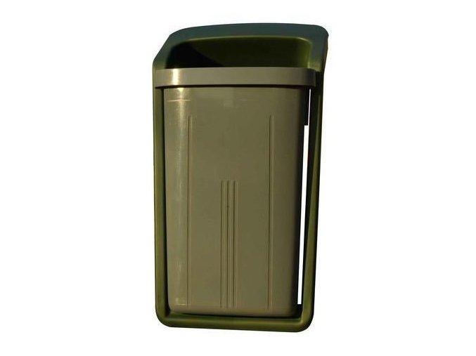 Plastový venkovní odpadkový koš Elegant, objem 50 l