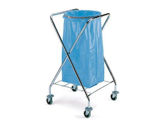 Skládací pojízdný stojan Chromed na odpadkové pytle