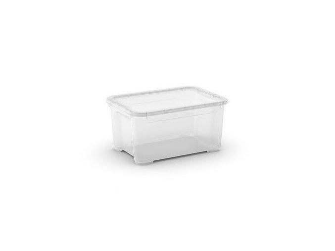 Plastové úložné boxy s víkem, průhledné